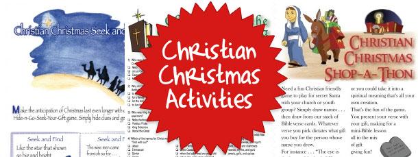 Christian Christmas Activity Sheets — Printable Treats.com