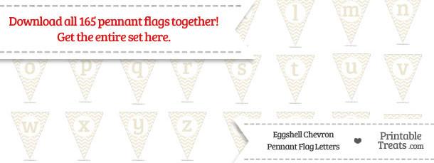 Eggshell Chevron Pennant Flag Letters Download