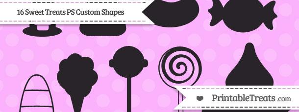 16 Sweet Treats Photoshop Custom Shapes Printable Treats Com