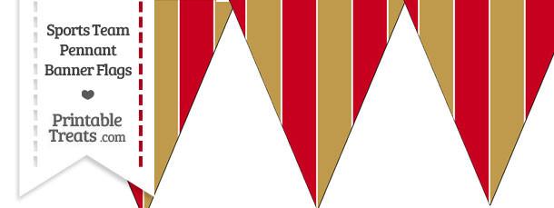 49ers Colors Pennant Banner Flag Printable Treats Com