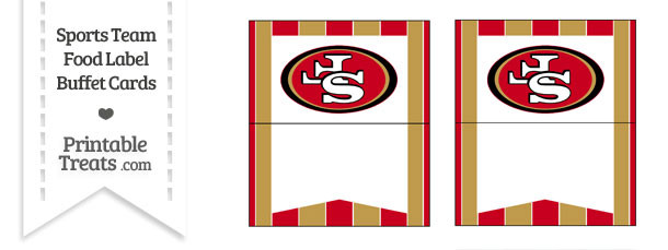 49ers Food Label Buffet Cards