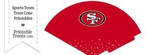 49ers Treat Cone Printable