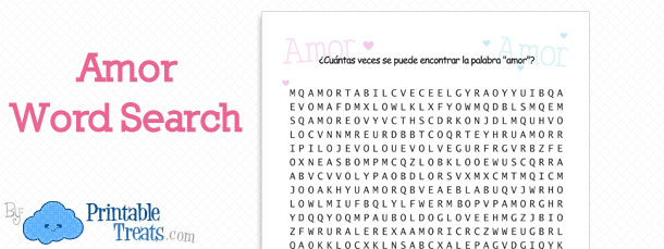 free-amor-word-search