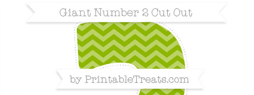 Apple Green Chevron Giant Number 2 Cut Out — Printable Treats.com