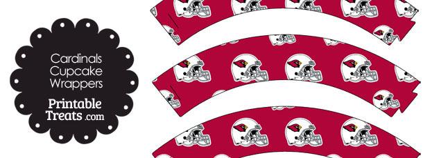 Arizona Cardinals Football Helmet Cupcake Wrappers