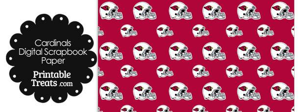 Arizona Cardinals Football Helmet Digital Paper