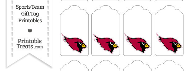 Arizona Cardinals Gift Tags