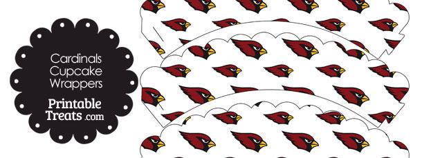 Arizona Cardinals Logo Scalloped Cupcake Wrappers