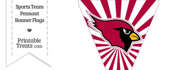 Arizona Cardinals Pennant Banner Flag