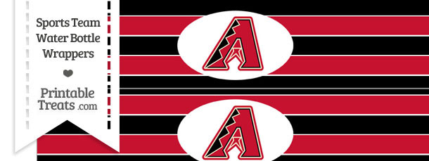 Arizona Diamondbacks Water Bottle Wrappers
