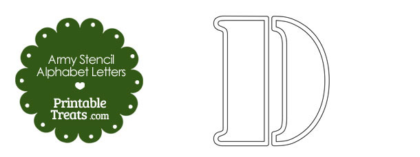 Army Stencil Outline Letter D