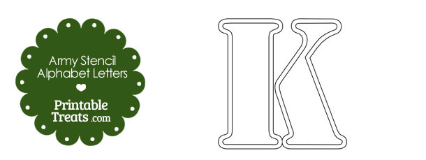 Army Stencil Outline Letter K