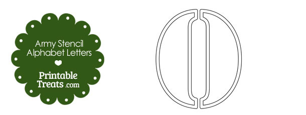 Army Stencil Outline Letter O