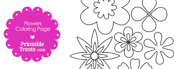 Assorted Flowers Coloring Page