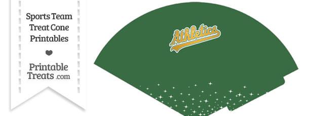Athletics Treat Cone Printable