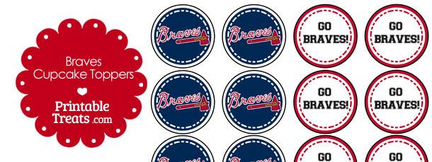 image relating to Atlanta Braves Printable Schedule named Atlanta Braves Cupcake Toppers Printable