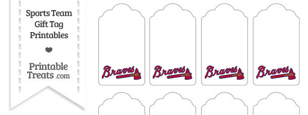 Atlanta Braves Gift Tags