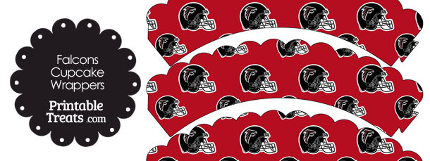 Atlanta Falcons Football Helmet Scalloped Cupcake Wrappers