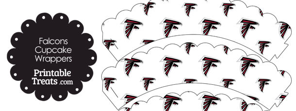 Atlanta Falcons Logo Scalloped Cupcake Wrappers