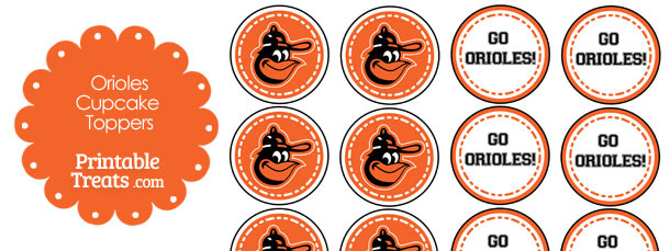photograph about Baltimore Orioles Printable Schedule identified as Baltimore Orioles Cupcake Toppers Printable