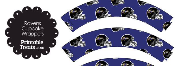 Baltimore Ravens Football Helmet Cupcake Wrappers