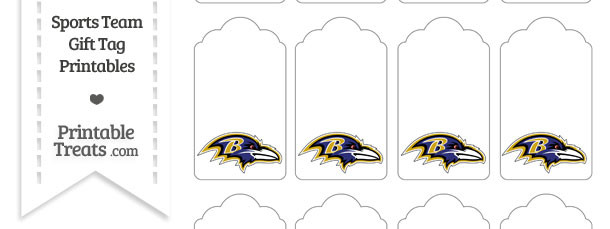 Baltimore Ravens Gift Tags