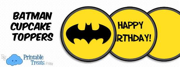 Exceptional Free Printable Batman Cupcake Toppers