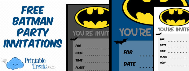 Free Batman Party Invitations
