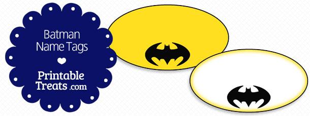 Free Batman Printable Name Tags