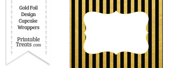 Black and Gold Foil Stripes Chocolate Bar Wrappers