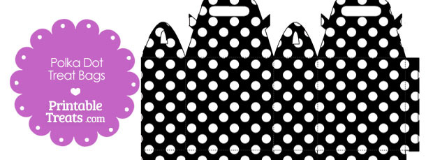 Black and White Polka Dot Treat Bags to Print