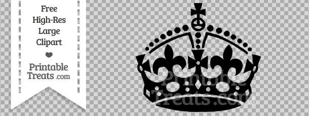 Black Keep Calm Crown Clipart Printable Treats