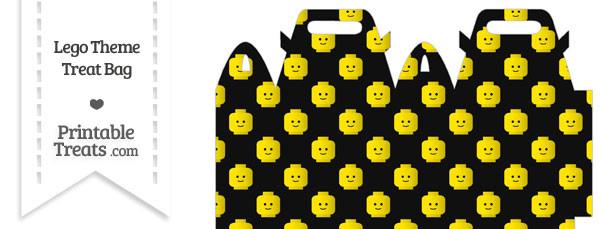 Black Lego Theme Treat Bag
