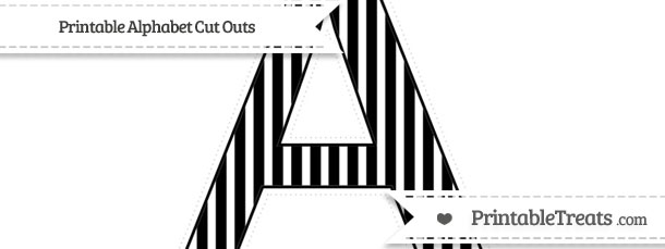 free black thin striped pattern extra large capital letter