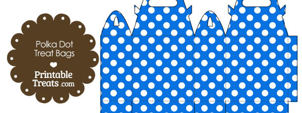 Blue and White Polka Dot Treat Bags to Print