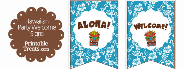 free-blue-hawaiian-party-welcome-sign
