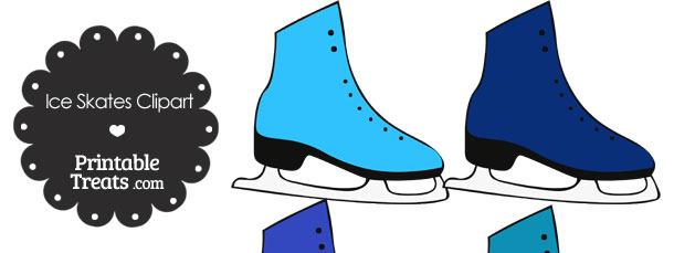 Blue Ice Skates Clipart