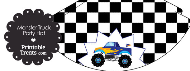 Blue Monster Truck Party Hat