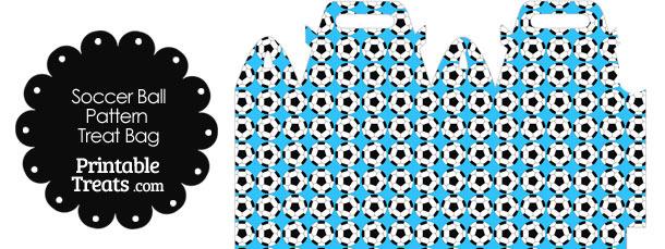 Blue Soccer Ball Pattern Treat Bag