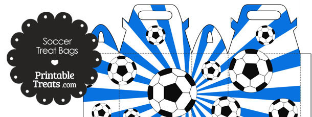 Blue Sunburst Soccer Party Treat Bags