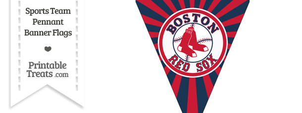 Boston Red Sox Pennant Banner Flag