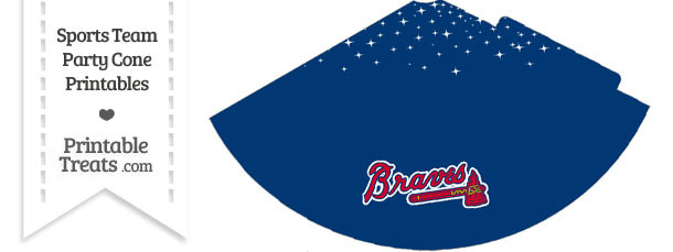 Braves Party Cone Printable