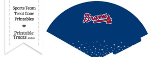 Braves Treat Cone Printable