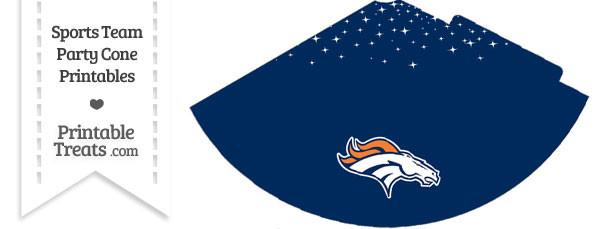 Broncos Party Cone Printable