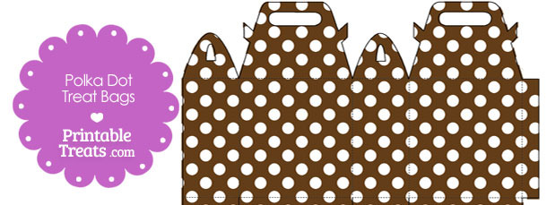 Brown and White Polka Dot Treat Bags to Print