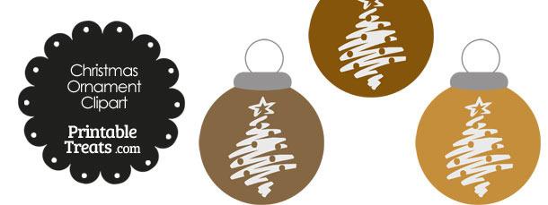 Brown Christmas Tree Christmas Ornament Clipart