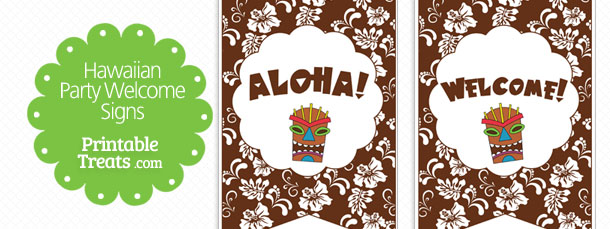 free-brown-hawaiian-party-welcome-sign