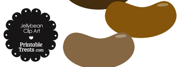 Brown Jellybean Clipart