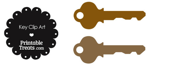 Brown Key Clipart
