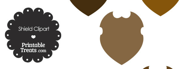 Brown Shield Clipart